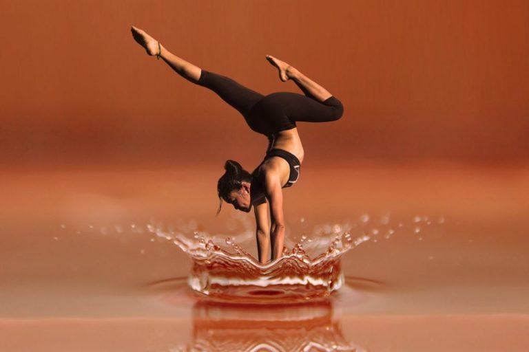 doing yoga over water