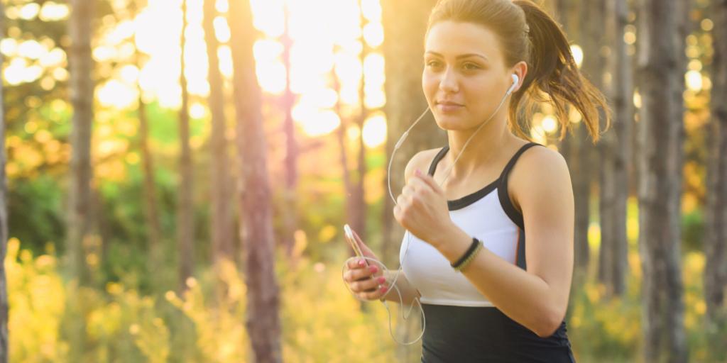 A Women Jogging