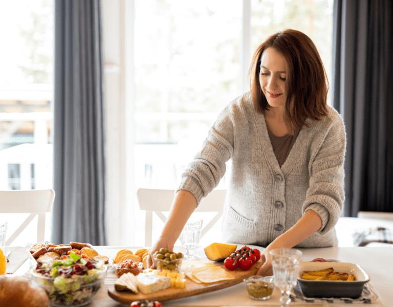 woman prepare meal