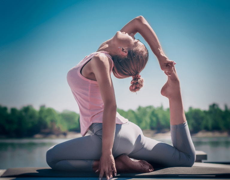 woman performing a yoga pose